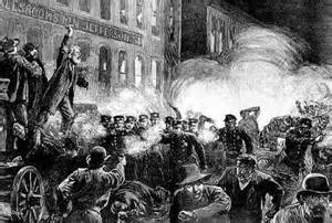 Haymarket Massacre, May 3, 1888 in Chicago, IL Photo courtesy of: http://deepartnature.blogspot.com/2010_10_01_archive.html