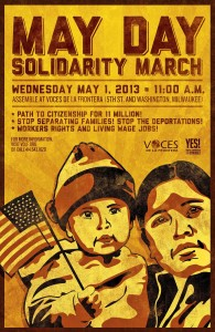 Voces de la Frontera and YES! Poster for May Day Rally 2013