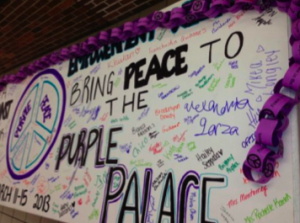 Purple Peace Palace Banner