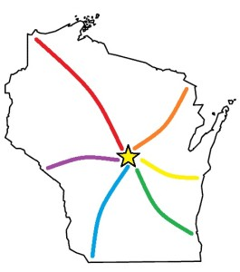 Stevens Point Rainbow Map